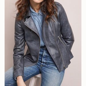 NWT Anthropologie Faux Leather Moto Jacket